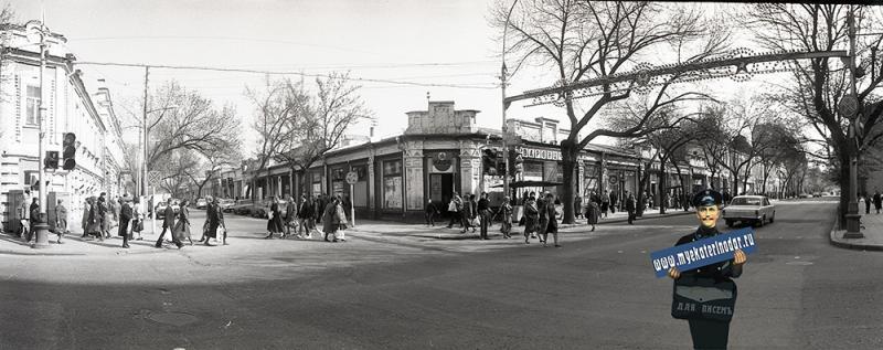 Краснодар. Перекресток улиц Красной и Свердлова, 1988 год