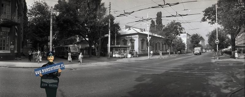 Краснодар. Перекресток ул. Мира и Коммунаров, 1988 год