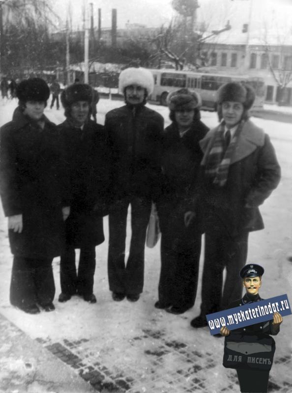 Краснодар. Перекрёсток улиц Октябрьской и Северной, 1977 год