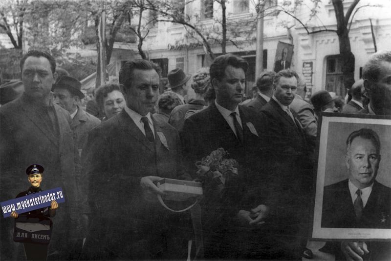 Краснодар. Первомайская демонстрация, 1960-е годы
