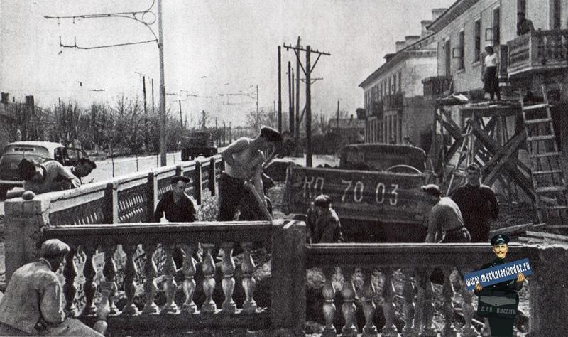 Краснодар. Новые дома на улице Сталина, 1951 год