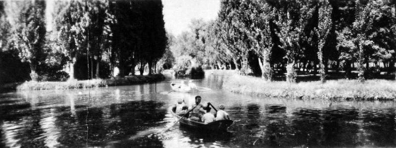 Краснодар. Пруд в Горпарке. 1961 г.