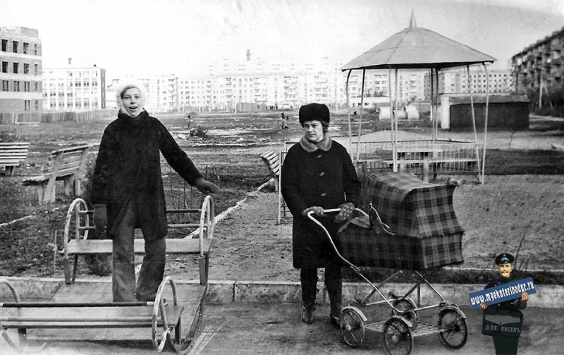 Краснодар. Район новой водолечебницы. Январь 1974 г.