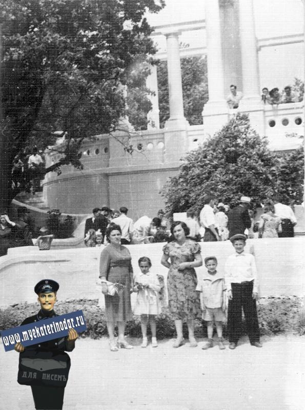 Краснодар. Колоннада в горпарке, 1961 год.