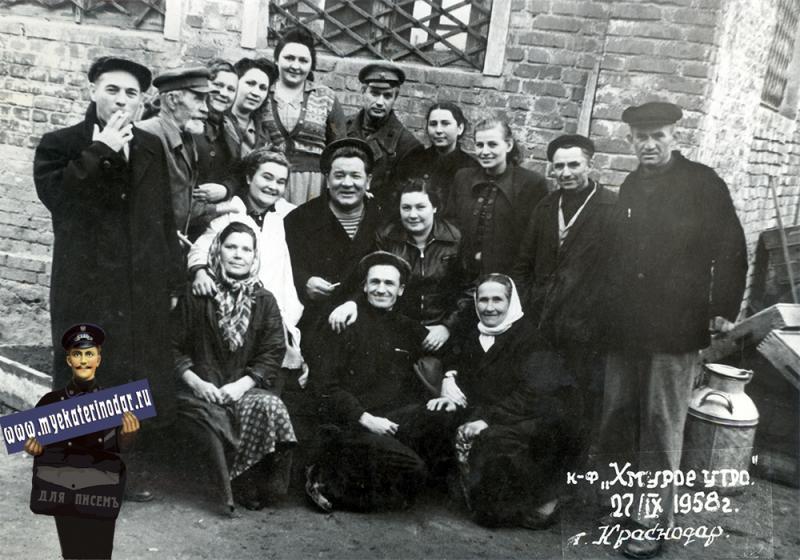 "Краснодар. Съемки фильма ""Хмурое утро"", 27 сентября 1958 года."