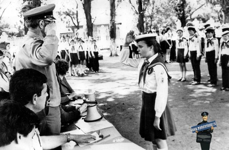"""КРАСНОДАР. СШ №35. Смотр """"Строя и песни"""", 1985 г."""