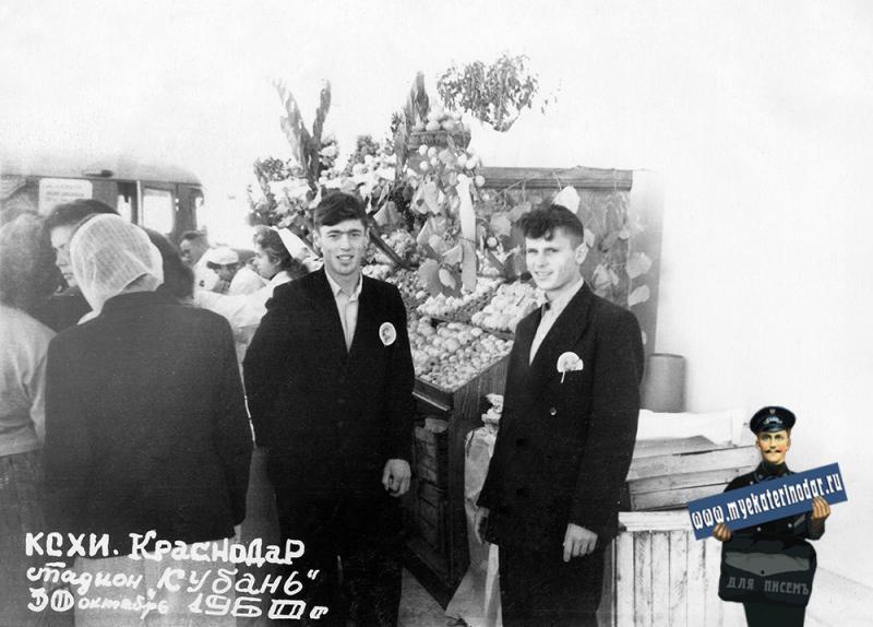 "Краснодар. Стадион ""Кубань"". Праздник урожая. 30.10.1960"