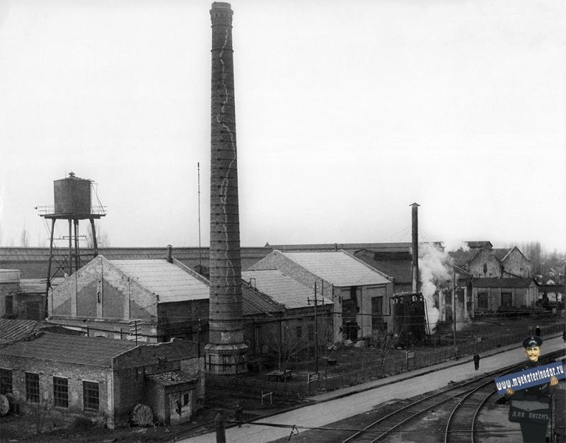 Краснодар. Старые цеха Краснодарского станкостроительного завода им. Седина. 1957 год