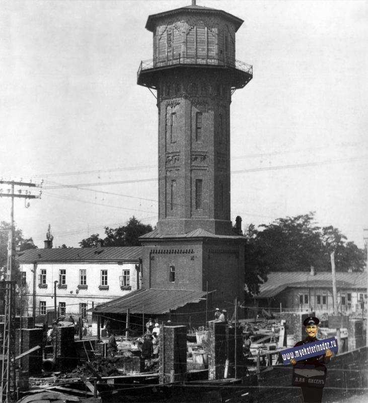 Краснодар. Строительство дома по ул. Красной, 25. Около 1929 года