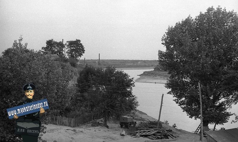 Краснодар. Строительство моста через Кубань на Пашковской переправе