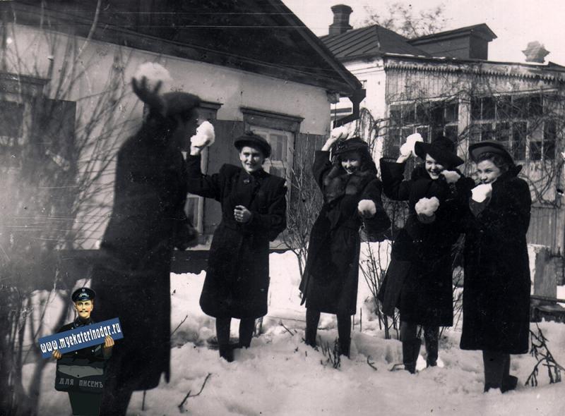 Краснодар. Угол улиц Горького и Янковского, 20 февраля 1949 года