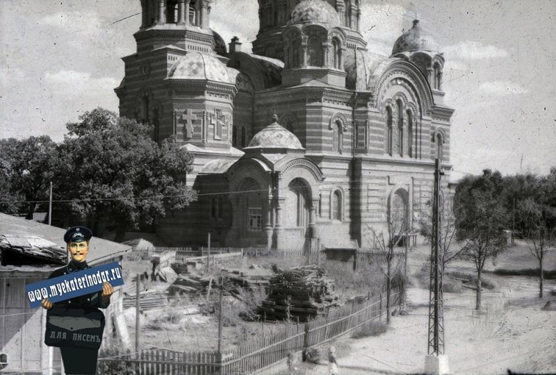 Краснодар. Угол улиц Мира и Коммунаров, осень 1942 года