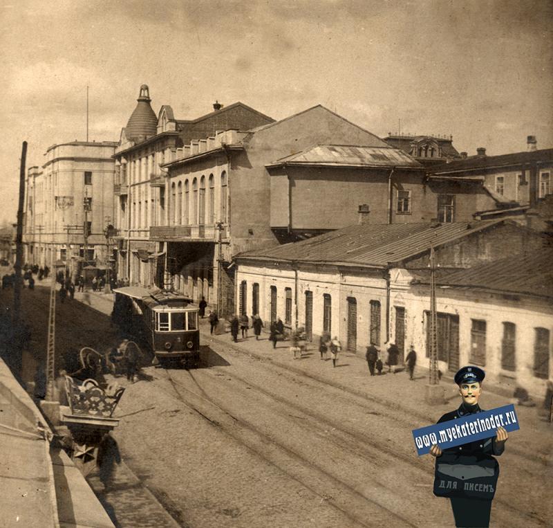 Краснодар. ул. Гоголя, вид от ул. Красноармейской в сторону ул. Красной, 1922 год