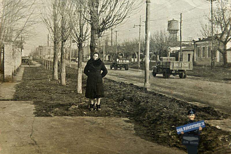 Краснодар. ул. Северная в районе перекрестка с ул. Октябрьской, 1960 год