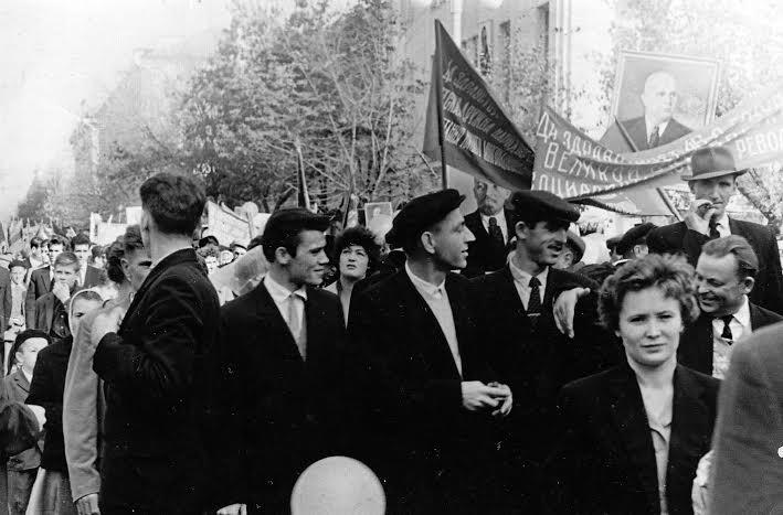 Краснодар. На улице Красной. 7 ноября 1963 года