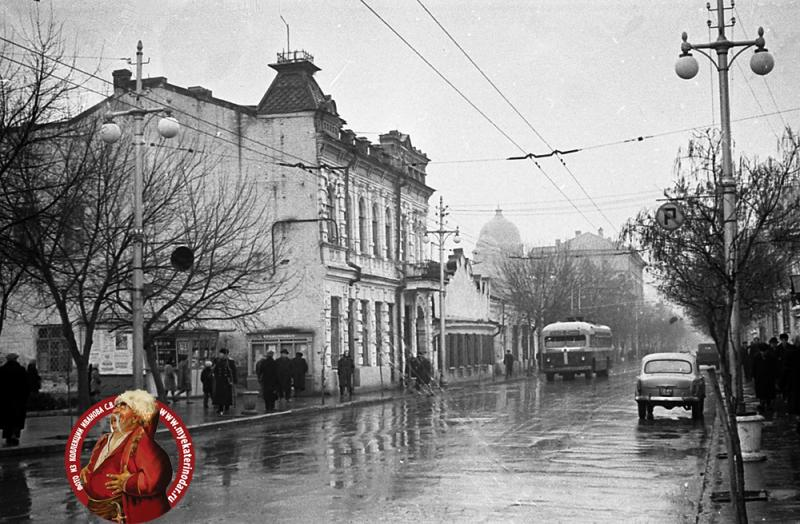 Краснодар. Улица Мира, вид на восток от ул.Красной, 1960-е