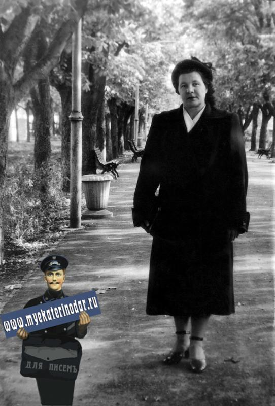 Краснодар. В сквере им. Ленина, 1956 год.