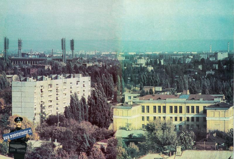 Краснодар. Вид на город от перекрёстка улиц Седина и Ленина.