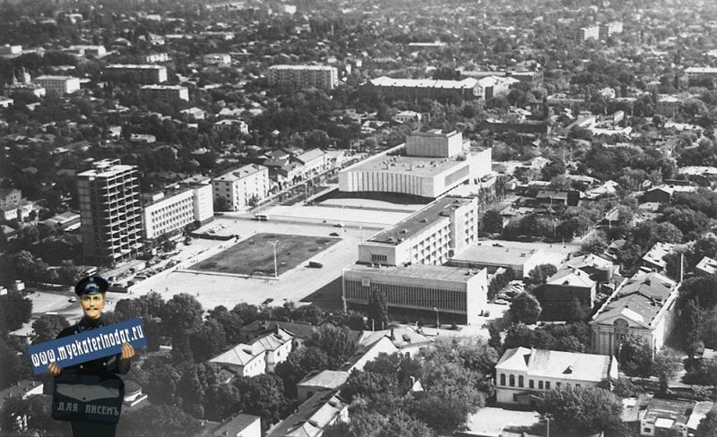 Краснодар. Вид на Площадь Октябрьской революции
