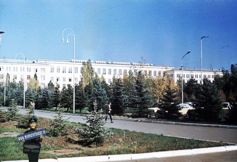 Краснодар. Вид на Зоофак, около 1980 года