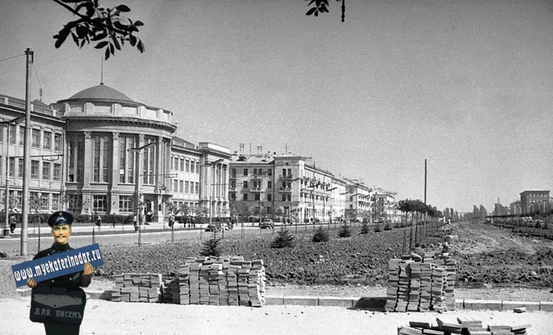 Краснодар. Угол улиц Красной и Крестьянской, 1963 год