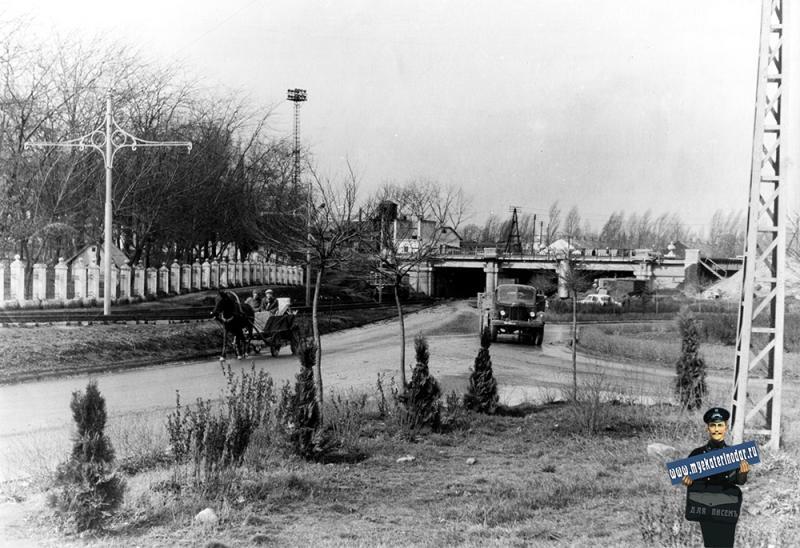 Краснодар. Вишняковский ж/д тоннель, 1966 год