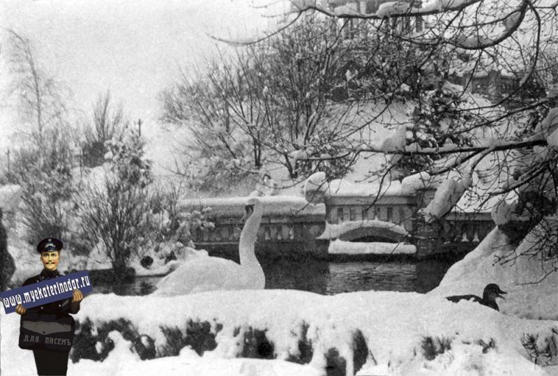 Краснодар. Зимой в парке им. Горького. 1938 год