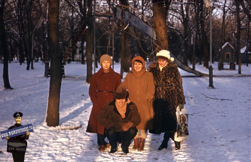 Краснодар. Зимой в Первомайской роще, 1980-е годы