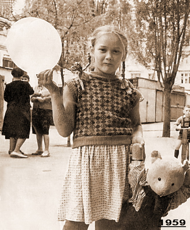 Краснодар. Двор дома по ул. Красная, 78, 1959 год
