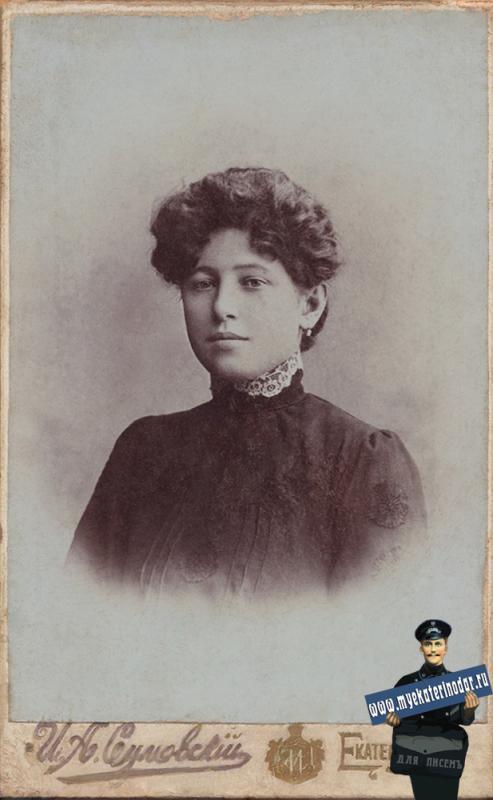 Екатеринодар. Фотоателье Сумовского И.А. Портрет девушки