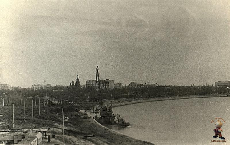Краснодар. Строительство Кубанской набережной, 1984 год
