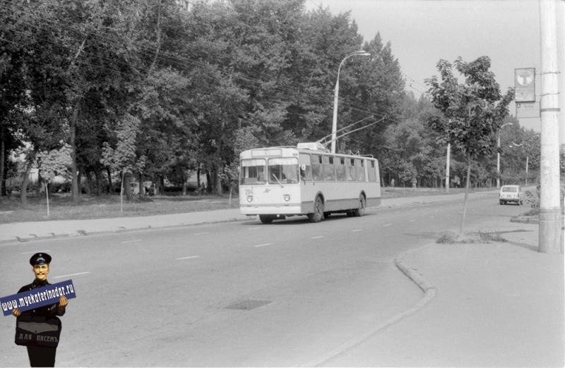 Краснодар. Троллейбус маршрута №7 на улице Гагарина, 1978 год.