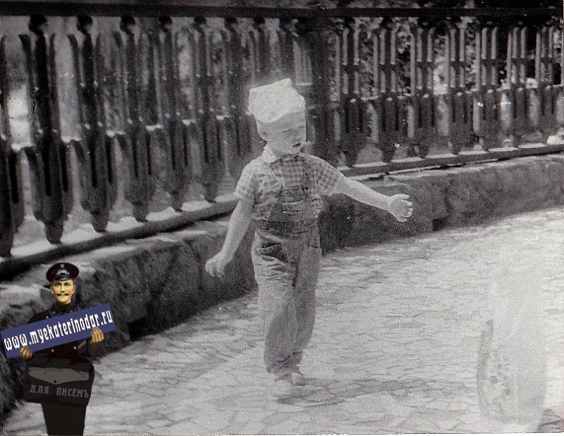 Краснодар. У пруда в Горпарке им. Горького, лето 1990 года