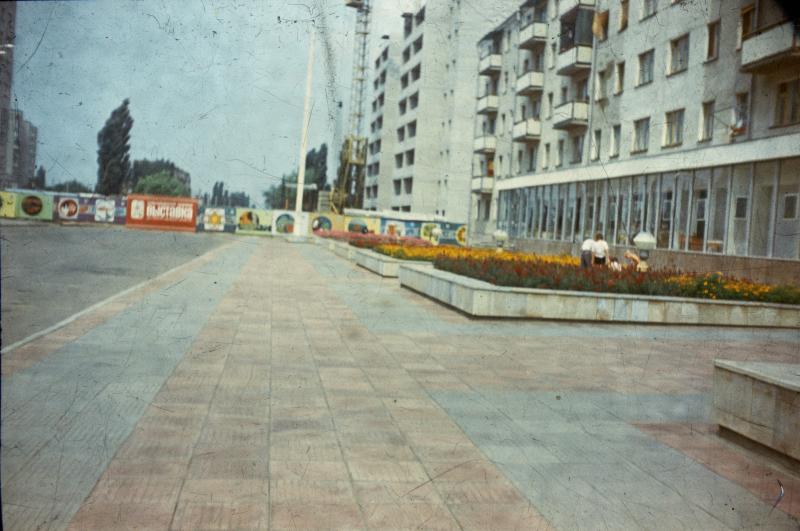 Краснодар. Улица Красных партизан у дома 567, 1980 год