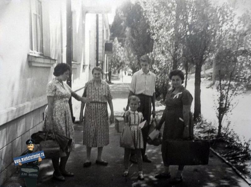 Краснодар. Улица Гудима рядом с домом 68, 1963 год