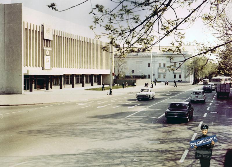 Краснодар. Улица Красная, от ул. Длинной до ул. Будённого. Март 1971 года.