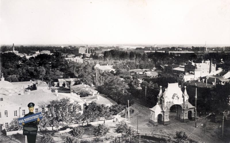 Екатеринодар. Вид с Екатерининского собора на юго-восток, 1914 год