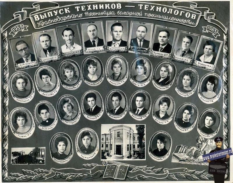 Краснодар. Выпуск Краснодарского техникума сахарной промышленности 1959-1963
