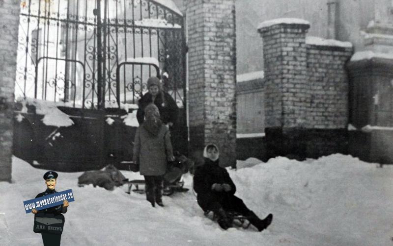Краснодар. Зима на ул.Гудимы, 1971 год