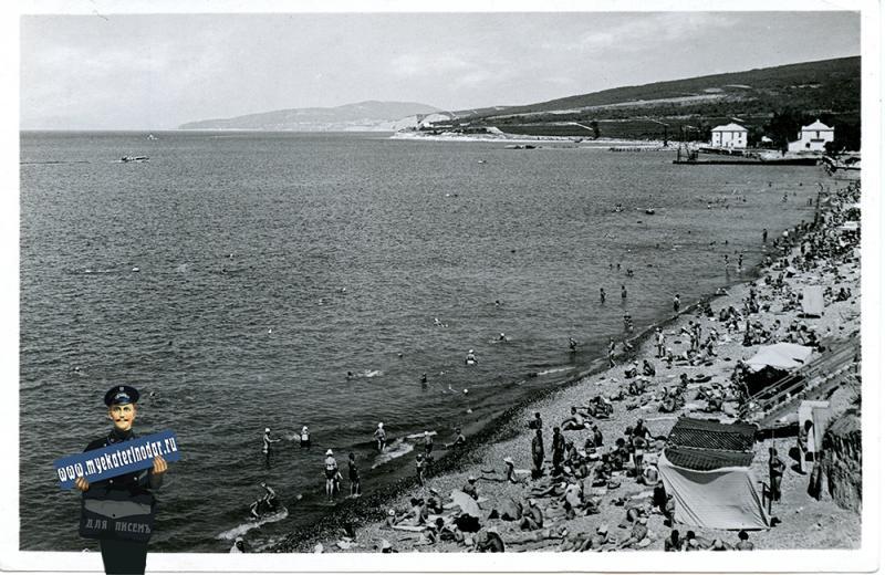 Дивноморск. Пляж. 1965 год