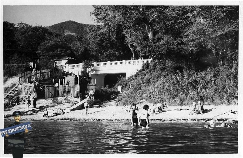 Геленджик. Пляж, 1965 год.