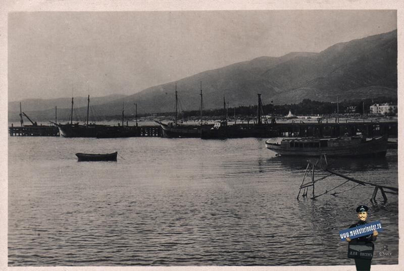 Геленджик. Пристань, 1937 год