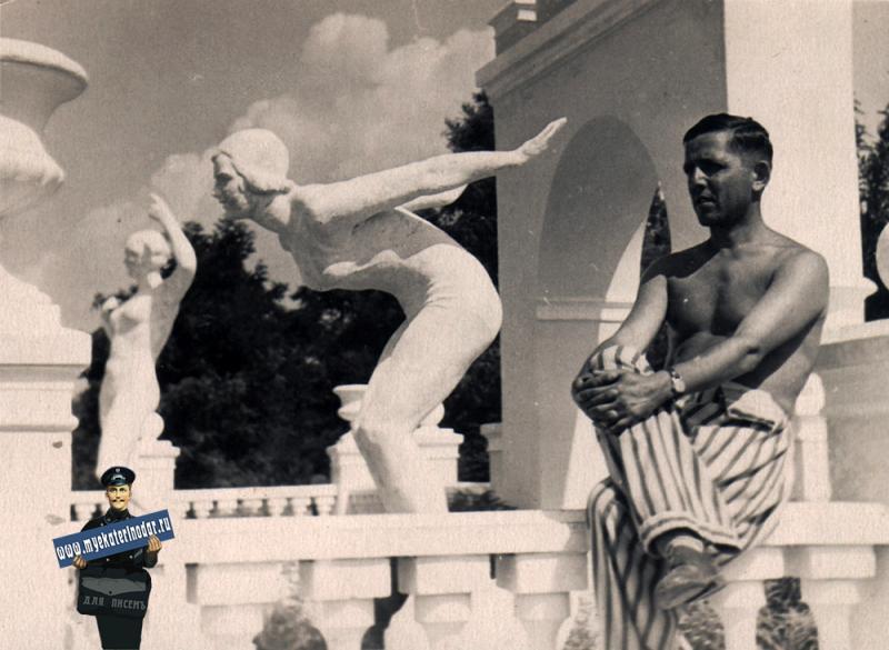 Геленджик. Санаторий ВЦСПС, июль 1953 года