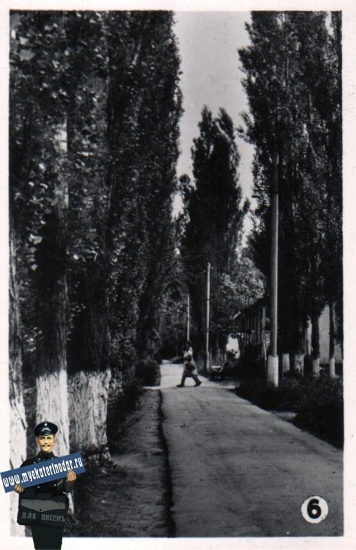Горячий ключ. Санаторий №2. Аллея, 1965 год