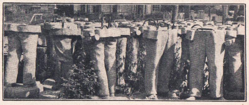 Майкоп. 1942 год. Заготовки скульптур