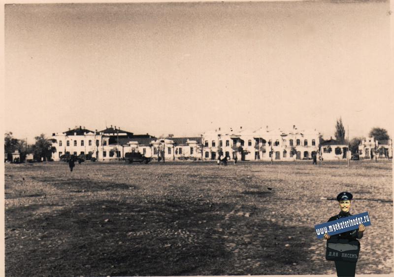 Майкоп. Базарная площадь, август 1942 года