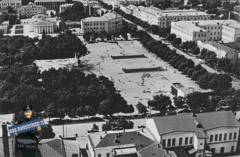 Майкоп. Площадь имени В.И.Ленина. 1969 год.