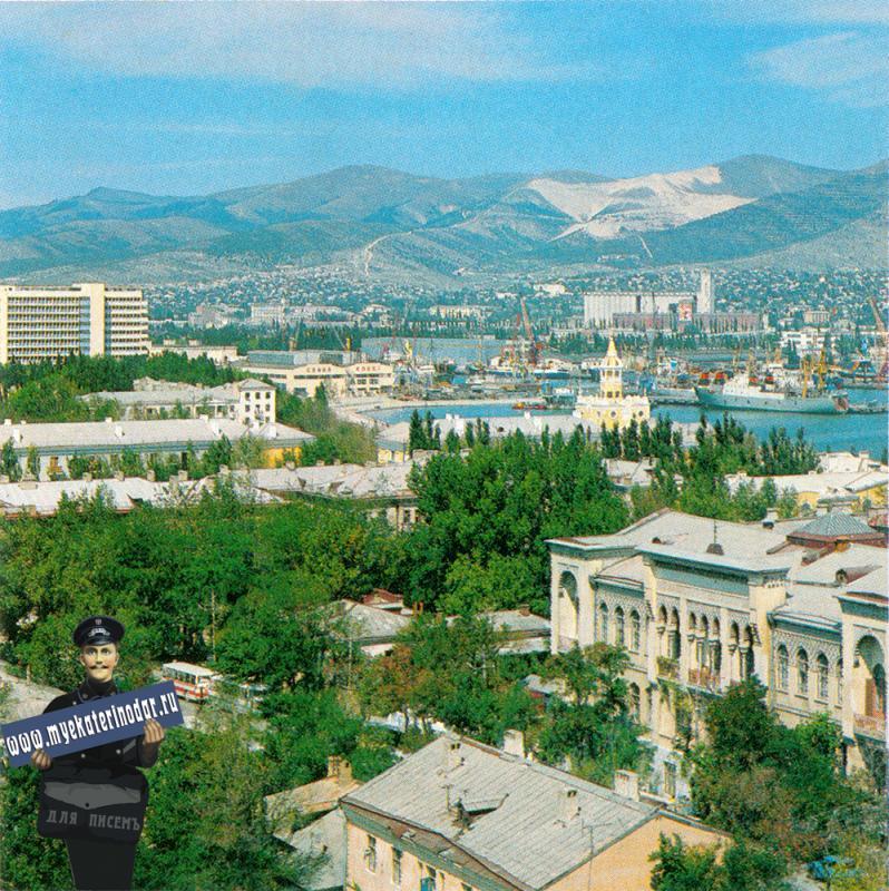 Новороссийск. Вид на город с высоты птичьего полета, 1978 год.