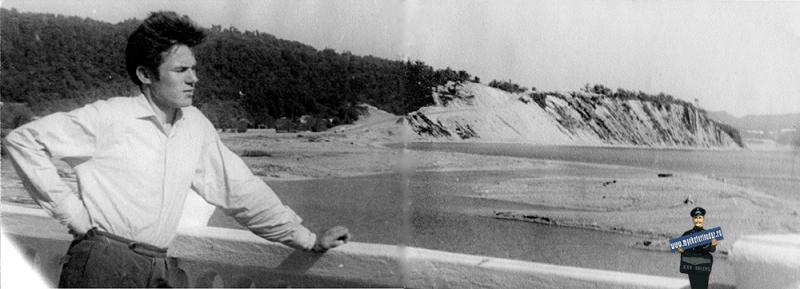 Пос. Лермонтово. Вид с моста через реку Шапсуго, 1964 год