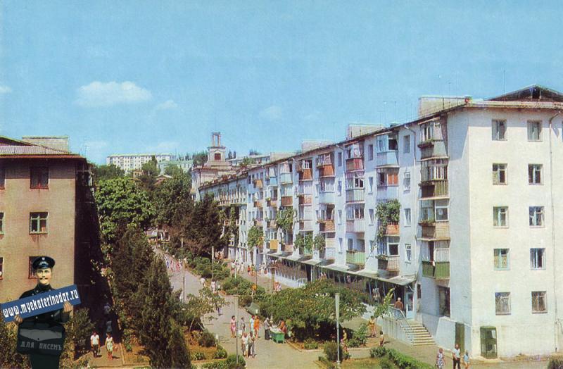 Туапсе.  Улица Галины Петровой, 1976 год